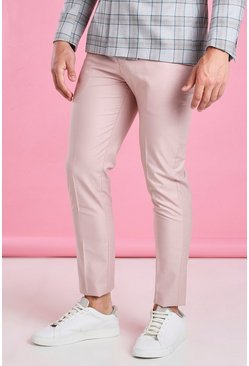 Dusky pink Skinny Plain Suit Pants