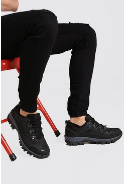 Black Festival Chunky Hiking Sneakers