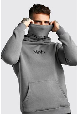 Charcoal MAN Official Jersey Hoodie With Snood