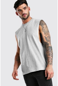 Grey marl Drop Armhole Tank