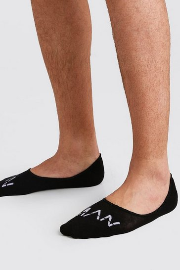 Black 3 Pack MAN Dash Invisible Socks