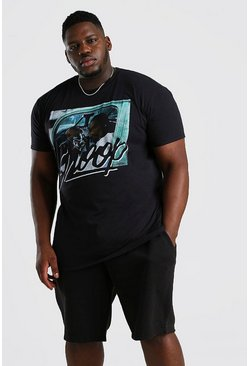 Big & Tall Snoop Car License T-Shirt, Black