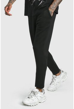 Black MAN Signature Cropped Scuba Jogger