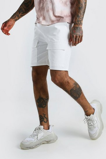 Ecru Twill Front Pocket Cargo Short