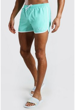 Aqua MAN Signature RUnner Style Swim Shorts