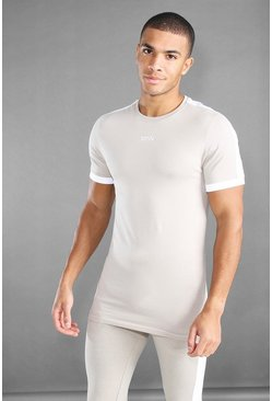 Stone MAN Active Longline T-Shirt With Panels
