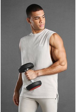 Stone MAN Active Loose Fit Drop Arm Hole Tank