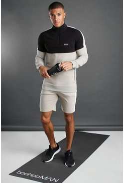 Stone MAN Active 1/4 Zip Short Set