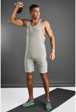 Stone MAN Active Vest And Short Set
