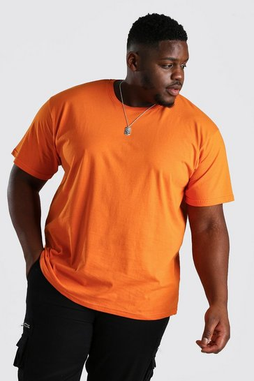 Orange Big And Tall Loose Fit T-Shirt