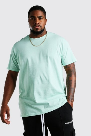 Mint Big And Tall Longline Basic T-Shirt