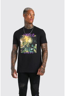 "Black ""Sign O' The Times"" T-shirt med Prince-tryck"