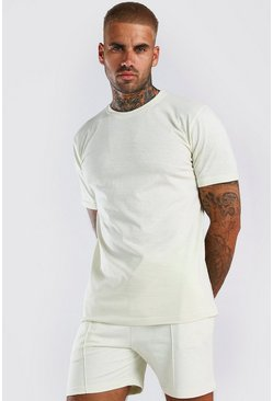 Stone MAN Washed T-Shirt & Pintuck Short Set