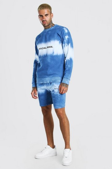 Blue MAN Official Tie Dye Short Tracksuit
