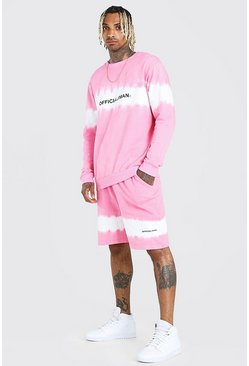 Pink MAN Official Tie Dye Short Tracksuit