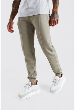 Stone MAN Signature Jersey Pintuck Jogger With Zips