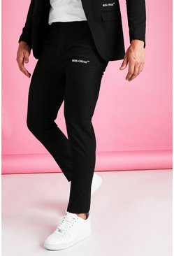 Black MAN Official Skinny Plain Suit Trouser