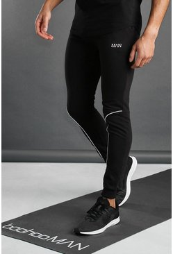 Black MAN Active Joggers With Piping