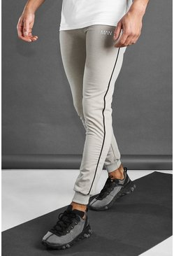 Stone MAN Active Skinny Fit Joggers With Piping