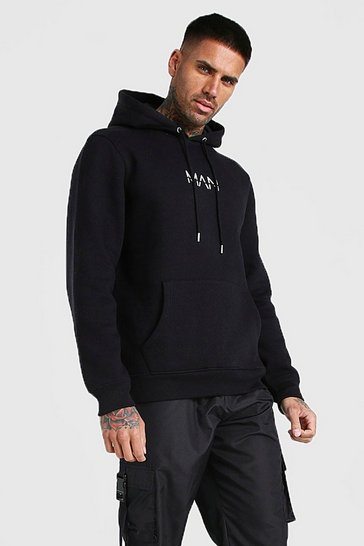 Black Original MAN Over The Head Hoodie