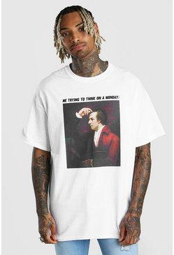 White Oversied National Portrait Gallery Meme T-Shirt