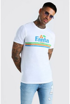 White Fanta Licensed T-Shirt