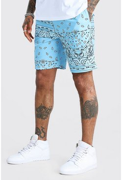 Blue Bandana Printed Relaxed Fit Short