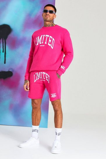 Pink Quavo Limited Print Short Tracksuit