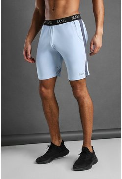 Blue MAN Active Mid Length Shorts