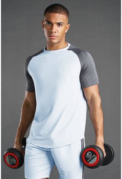 Blue MAN Active Poly Raglan T-Shirt With Reflective