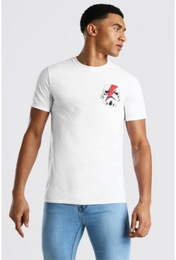 White Star Wars Storm Trooper License Print T-Shirt
