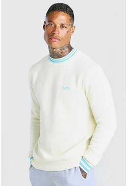 White Original MAN Sports Rib Sweatshirt