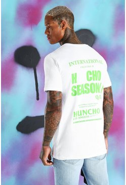 Quavo Loose-Fit T-Shirt mit International-Print, Weiß