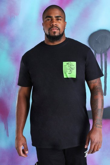Black Big And Tall Quavo T-Shirt With Season Print