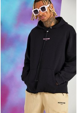 Black Quavo Oversized Hoodie With Back Print
