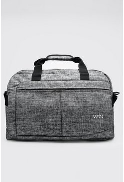 Grey Textured Multi Pocket Holdall