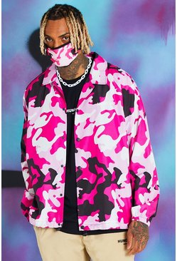 Quavo Trainingsjacke in Camo-Print, Rosa