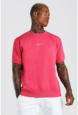 Coral Official MAN Front & Back Print Short Sleeve Sweat