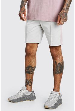Stone MAN Signature Tricot Pintuck Shorts With Tape