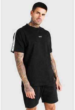 Black Original MAN Tape Loose Fit T-Shirt
