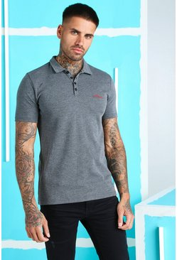 Grey MAN Signature Muscle Fit Polo