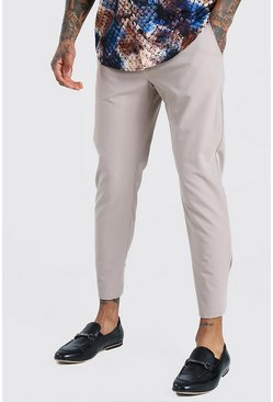 Stone Skinny Fit Cropped Smart Trouser