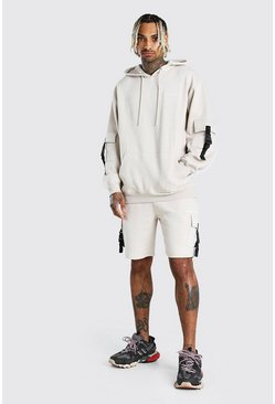 Stone Oversized MAN Offical Short Cargo Tracksuit