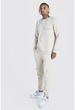 Stone Offical MAN Cargo Sweater Tracksuit