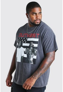 Charcoal Big & Tall - T-shirt med Outkast-motiv