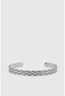 Silver Tribal Effect Bangle