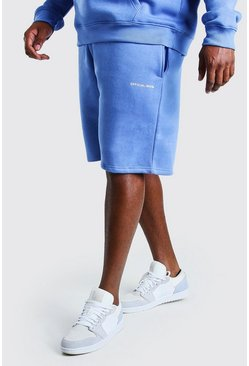 Blue Big And Tall MAN Official Print Shorts