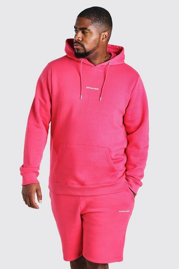 Coral Big And Tall MAN Official Print Hoodie