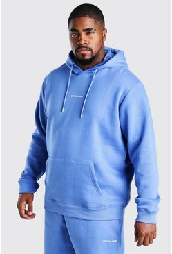 Blue Big And Tall MAN Official Print Hoodie