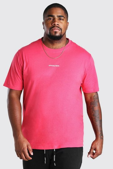 Coral Big And Tall MAN Official Print T-Shirt